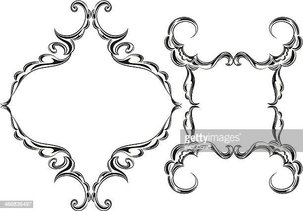 scroll_frames - scrollen stock illustrations