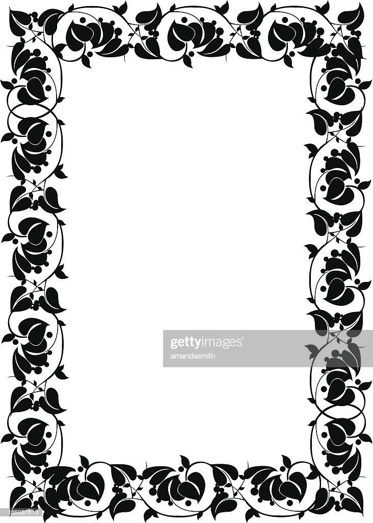 Scrolling 2 Vine Frame Vector Art | Getty Images
