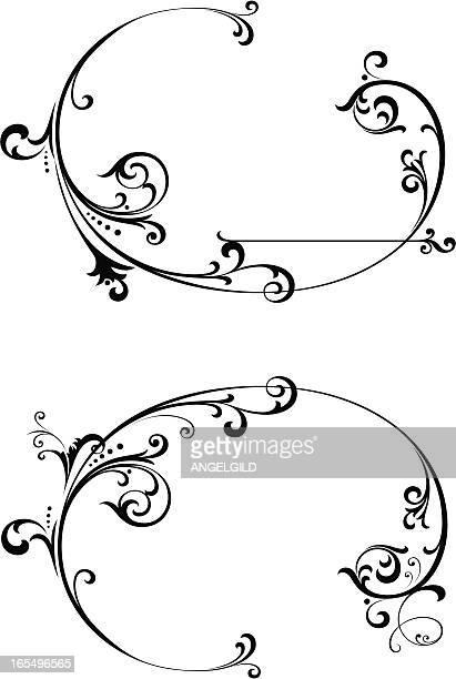 渦巻き模様 - ルネッサンス様式点のイラスト素材/クリップアート素材/マンガ素材/アイコン素材