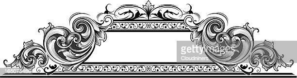 渦巻きヘッダ - ビクトリア様式点のイラスト素材/クリップアート素材/マンガ素材/アイコン素材