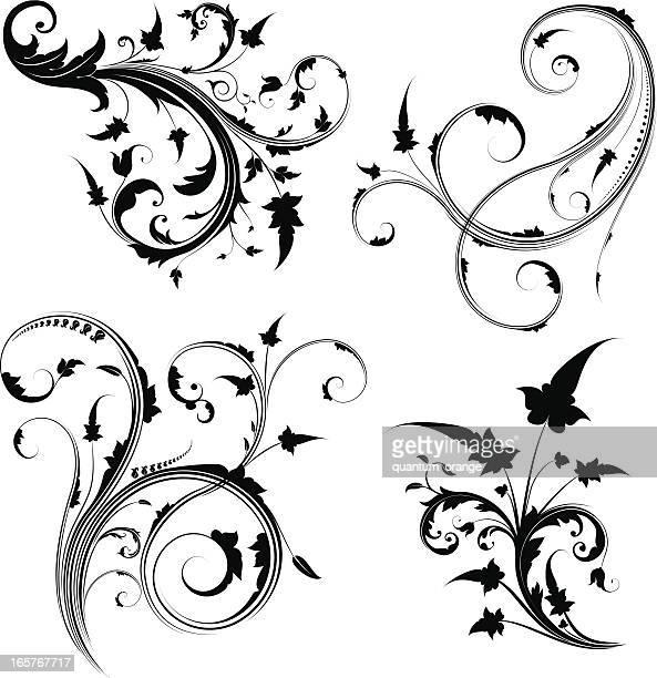 渦巻き模様の渦巻き