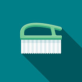 Scrub Brush Flat Design Springtime Icon