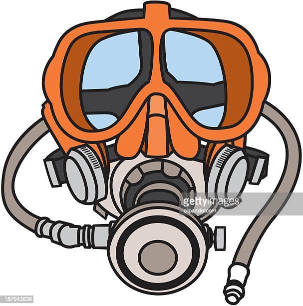 scuba diving mask - scuba mask stock illustrations
