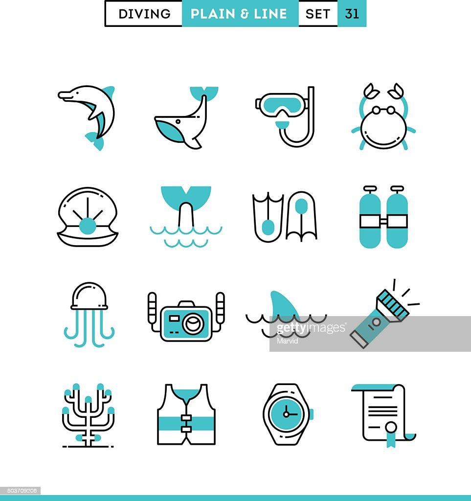Scuba diving, underwater animals, equipment, certificate and mor