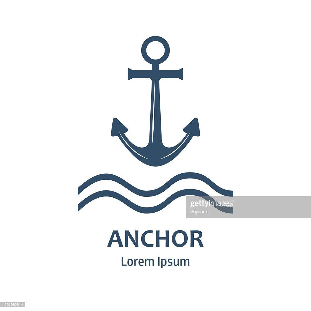 Sea anchor icon