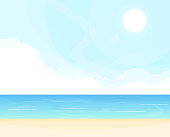 Sea and clouds background