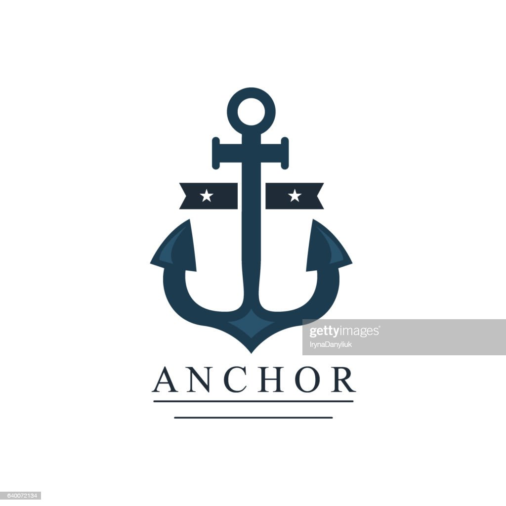 Sea and nautical decoration badge vector illustration.