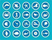 Sea Animal Icons
