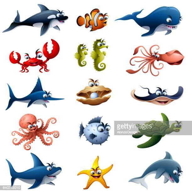 Sea Animals Characters