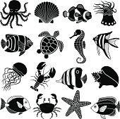 sea creatures icons
