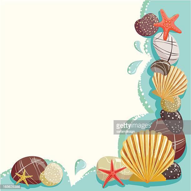 海を背景に - 巨礫点のイラスト素材/クリップアート素材/マンガ素材/アイコン素材