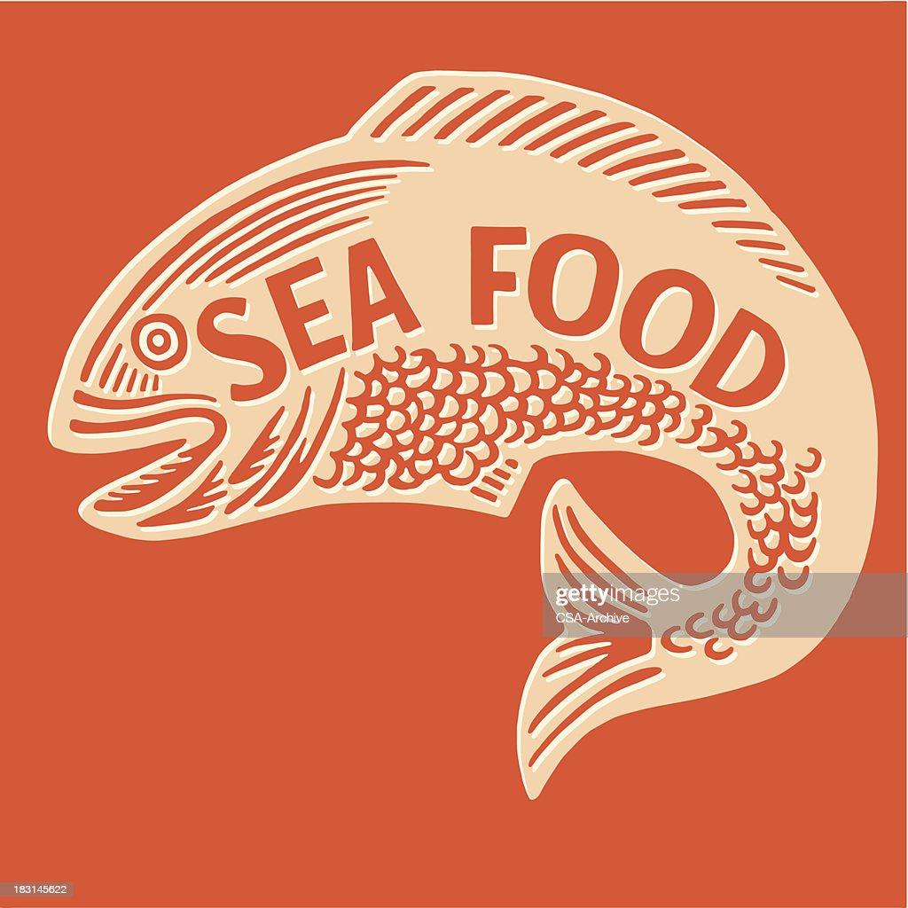 Sea Food Fish : stock illustration