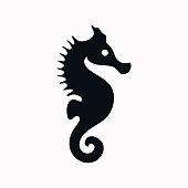 Sea Horse vector  icon.