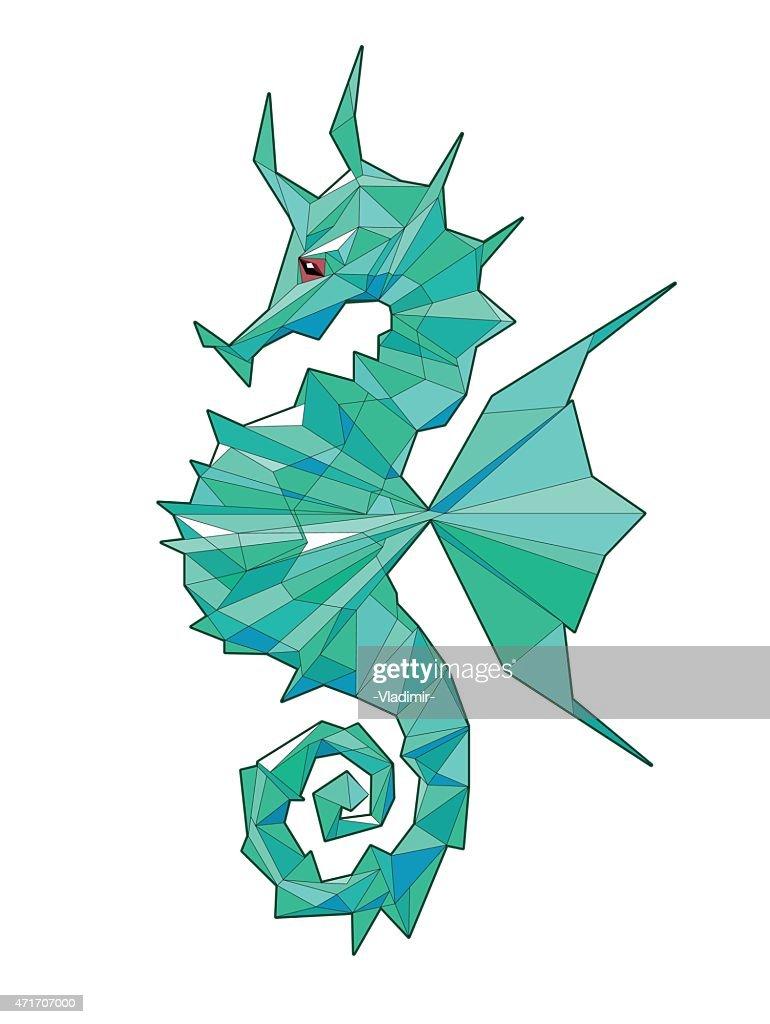 Sea horse vector illustration