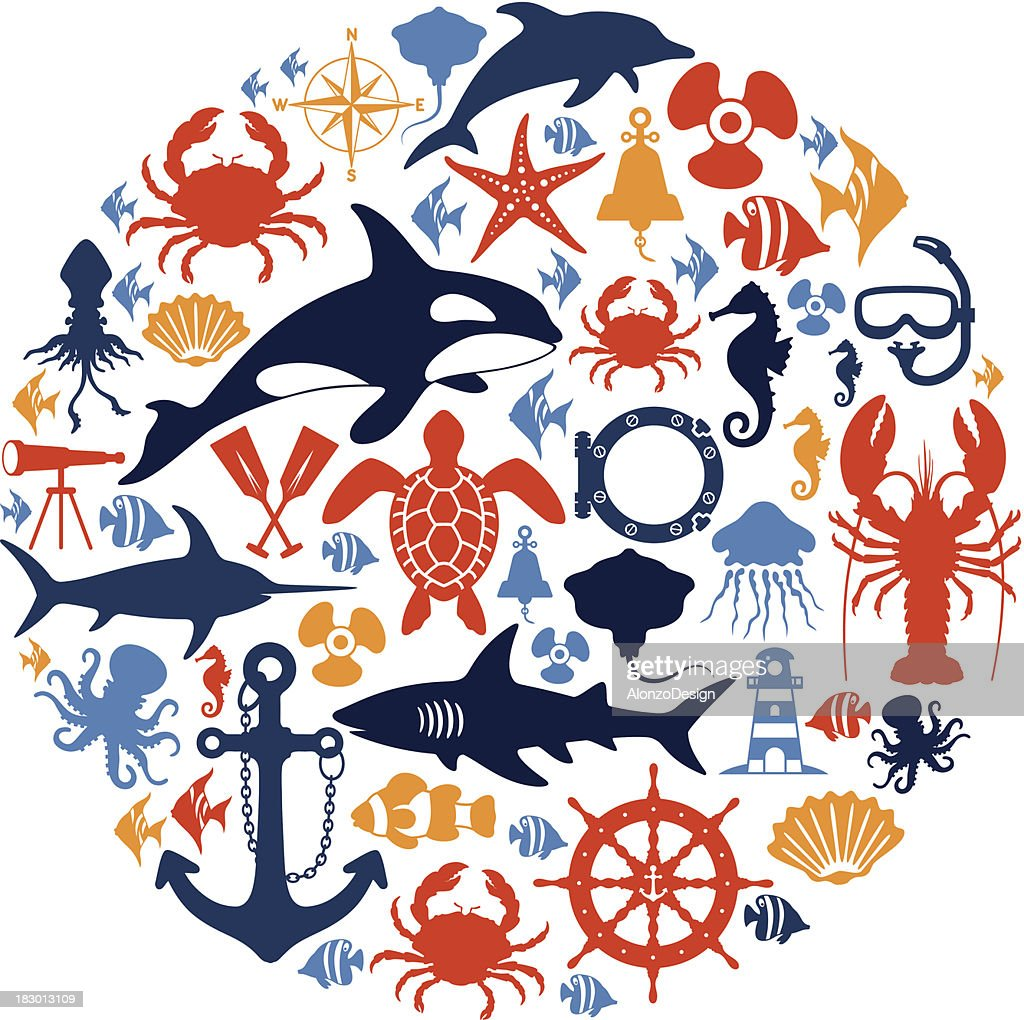 Sea Life Collage