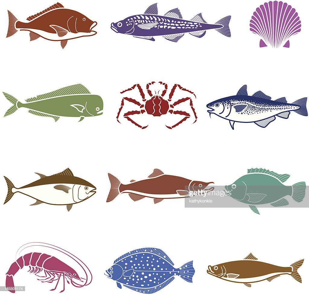 sea life icon set