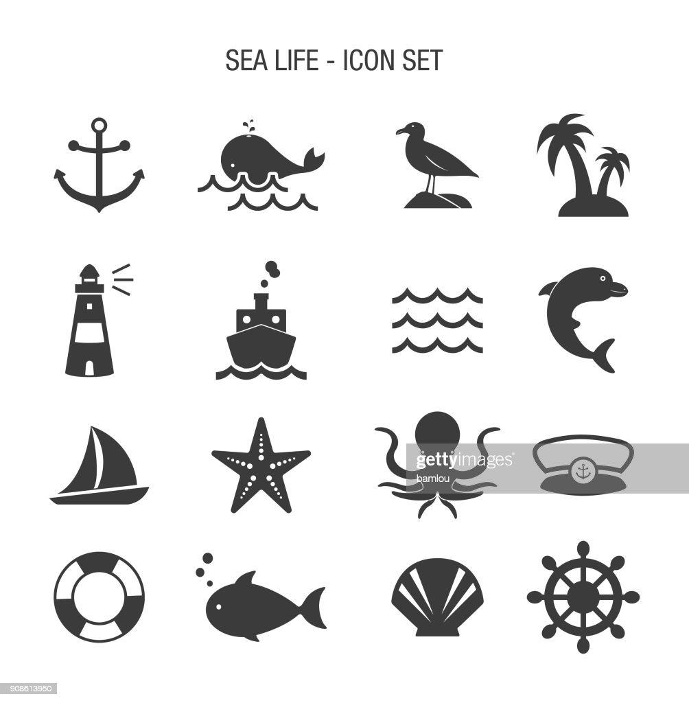 Sea Life Icon Set