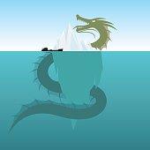 Sea Monsters - Giant  Sea Serpent