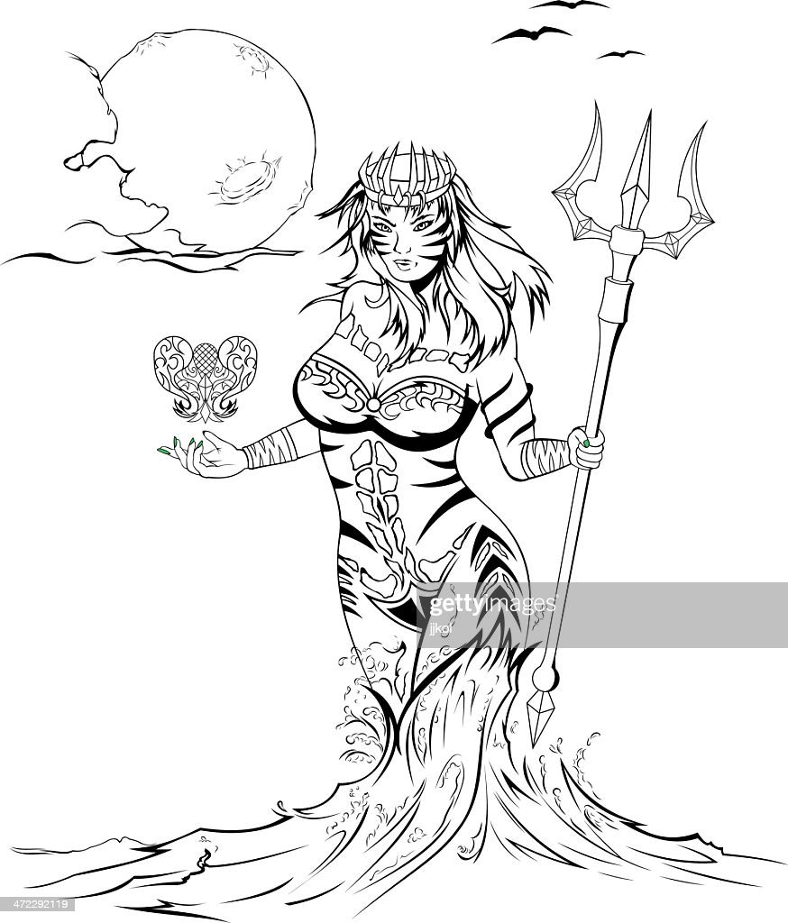 Sea Queen : stock illustration