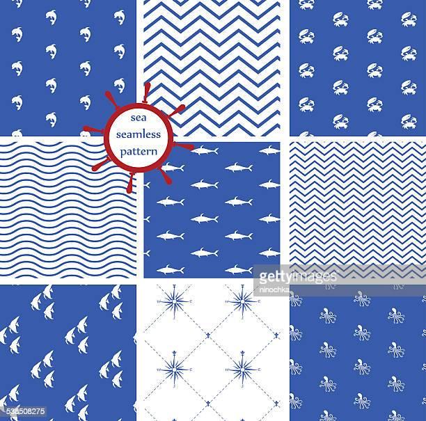 sea seamless patterns