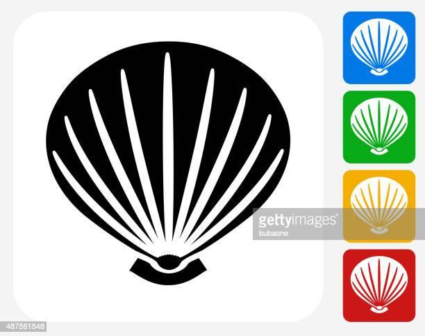 貝殻グラフィックデザインアイコンフラット