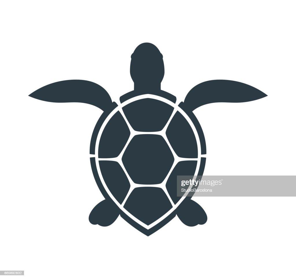 Sea turtle icon.