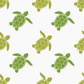 Sea turtles seamless pattern