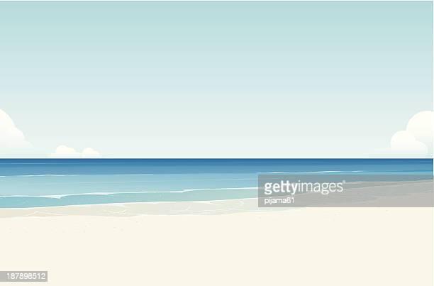 ilustraciones, imágenes clip art, dibujos animados e iconos de stock de al mar - vista marina