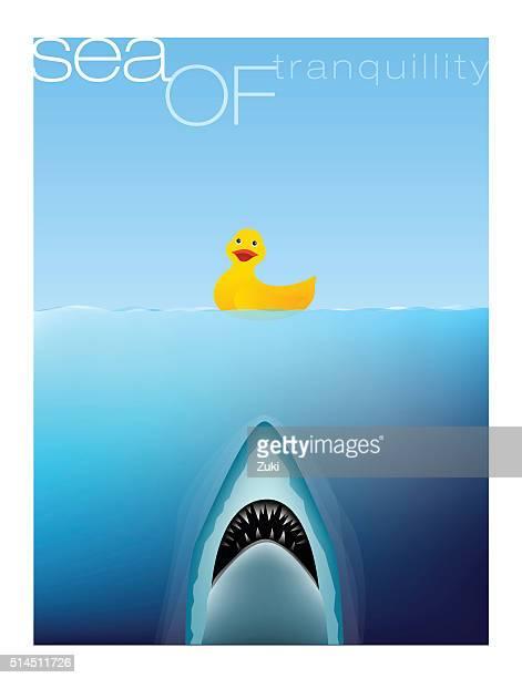 illustrations, cliparts, dessins animés et icônes de la mer - requin