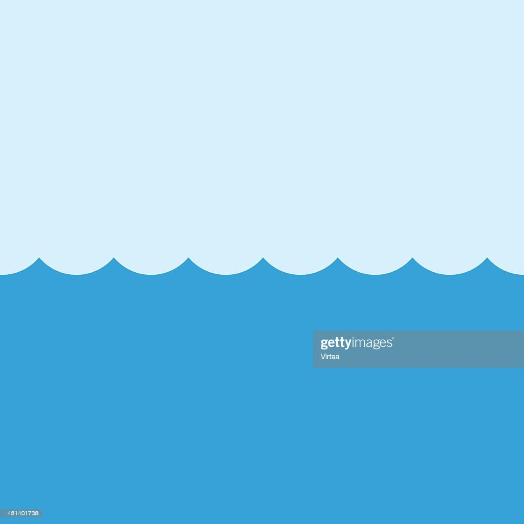 Sea vector illustration, modern minimal flat design style. Ocean symbol