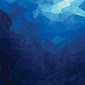 sea water blue polygonal triangular pattern background