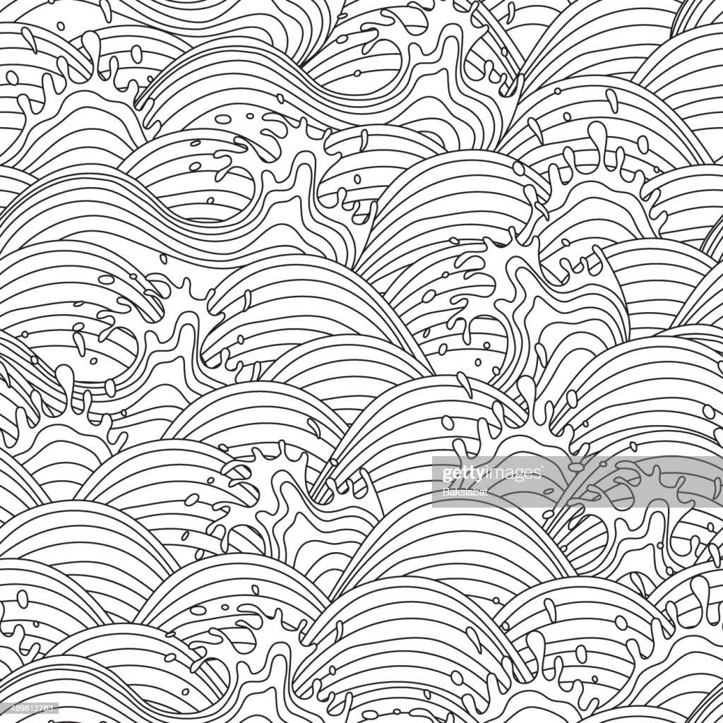 Sea wave background. Seamless pattern.