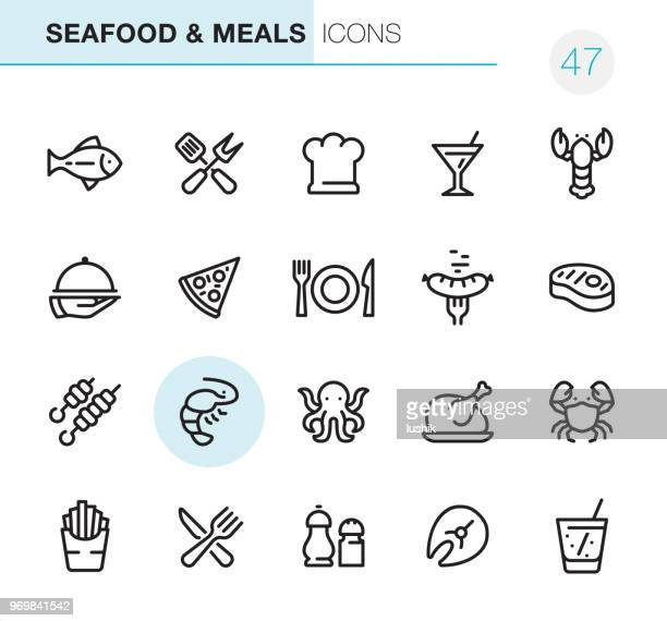 Seafood and Meals - Pixel Perfect icons