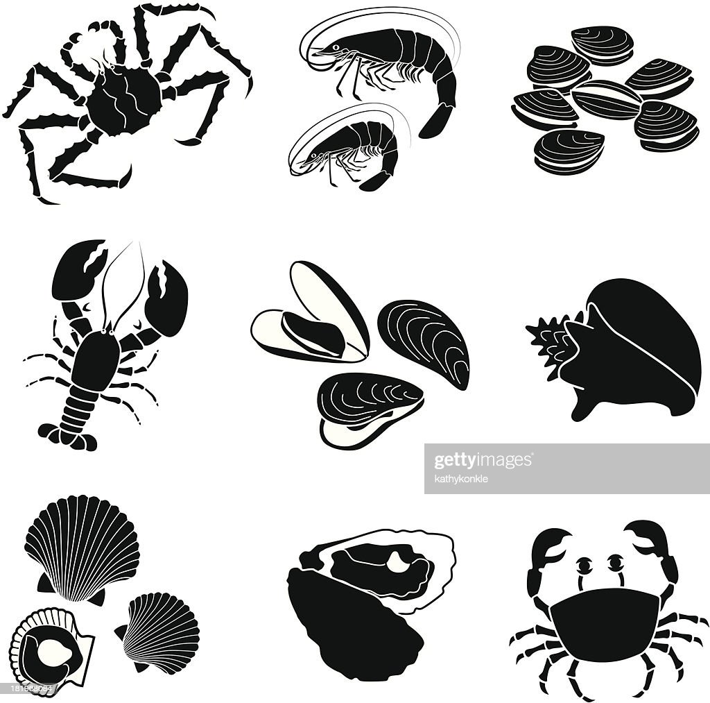 seafood crustaceans and mollusks