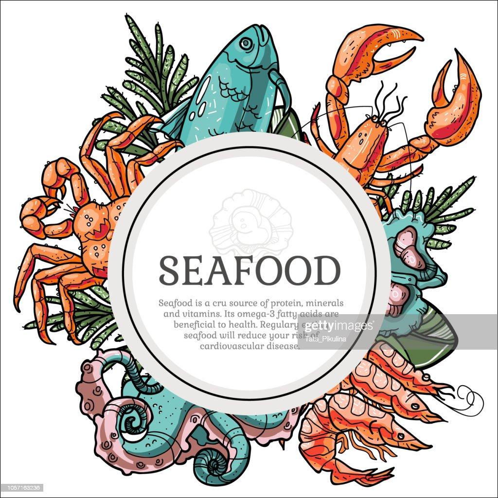 Seafood frame