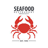 Seafood restaurant and fish vector design template