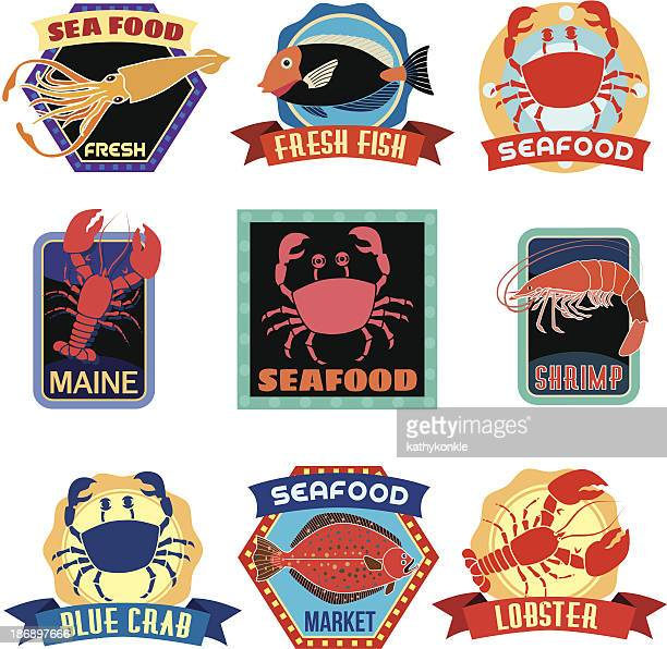 seafood stickers or labels