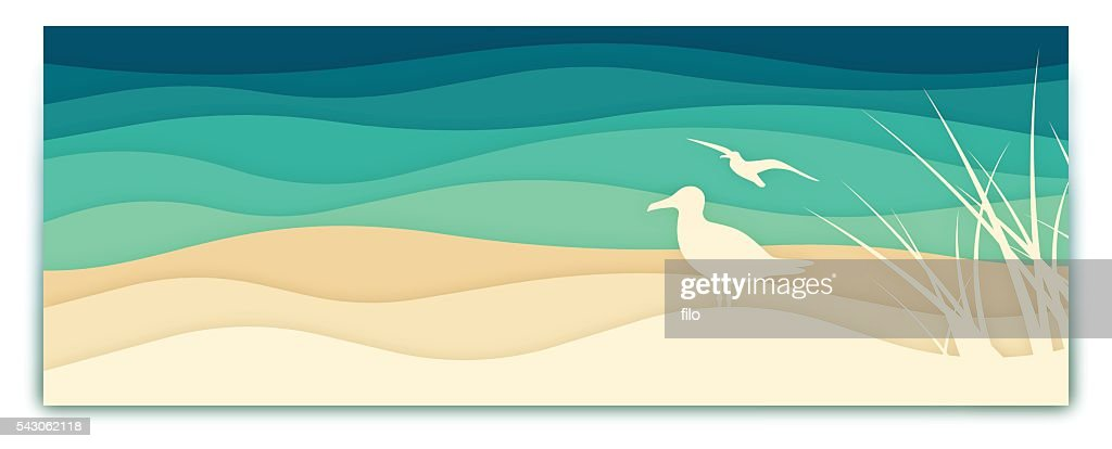 素晴らしい海のバナー : ストックイラストレーション