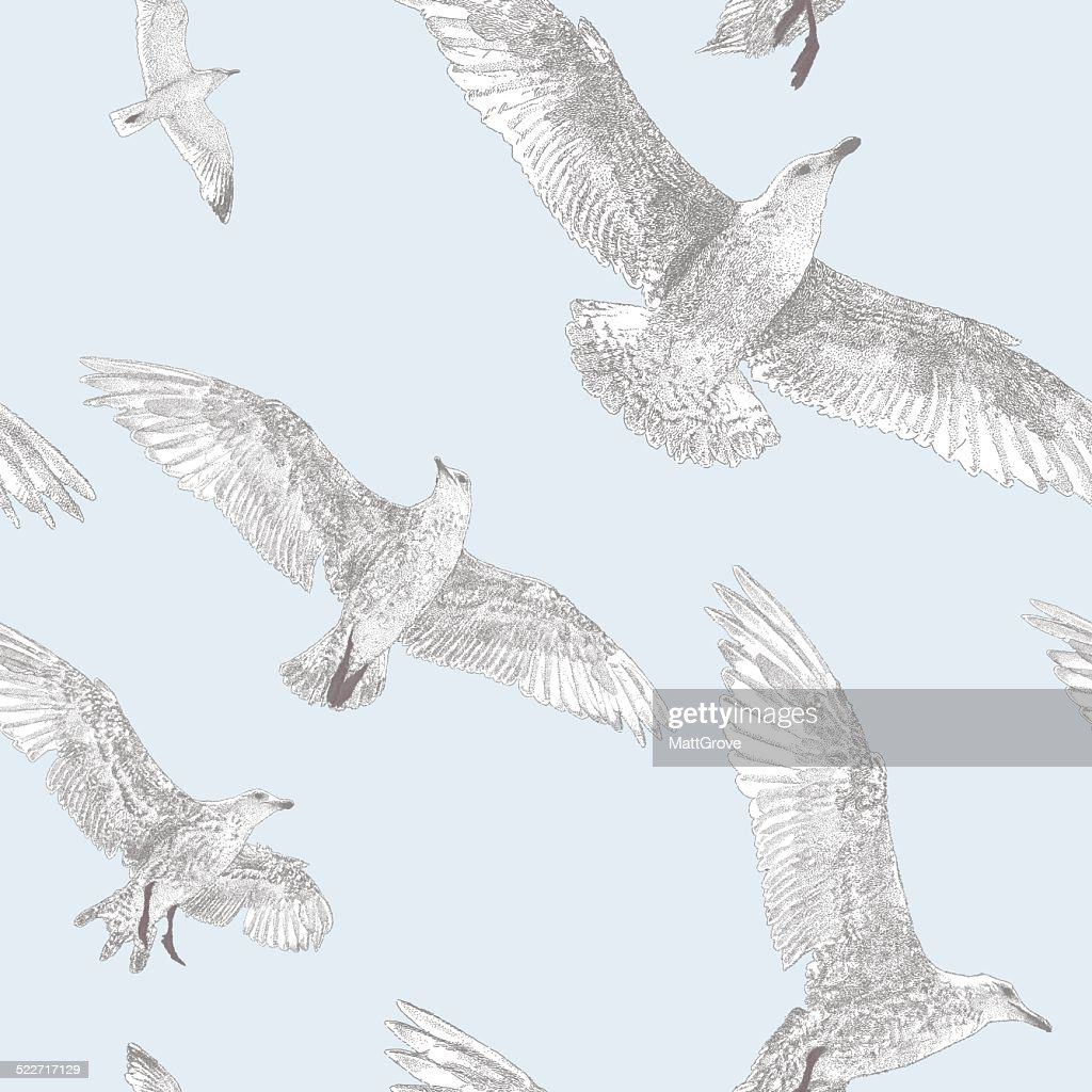 Seagull Repeat Pattern