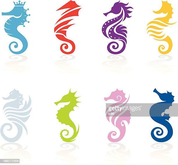 ilustrações de stock, clip art, desenhos animados e ícones de cavalo-marinho - cavalo marinho