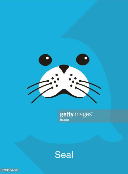 seal face flat icon design, vector illustration