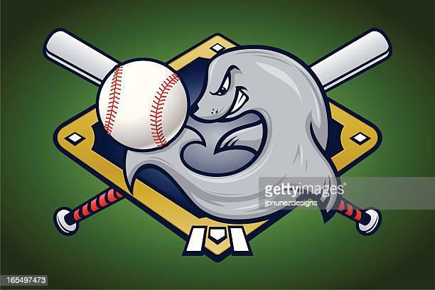 seal with baseball - slapping stock illustrations, clip art, cartoons, & icons