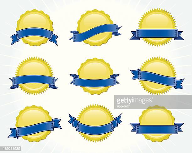seals with banners - great seal stock illustrations, clip art, cartoons, & icons