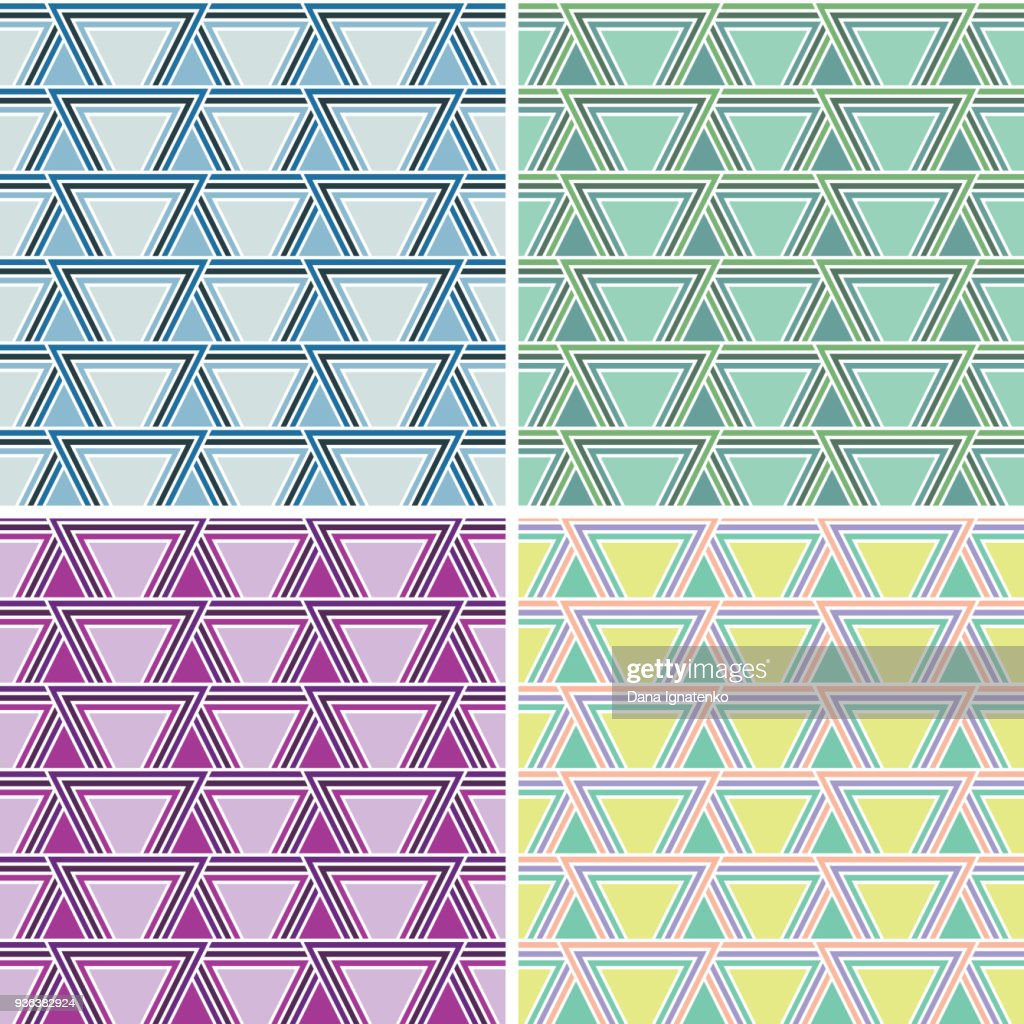 Seamles abstract triangle pattern.