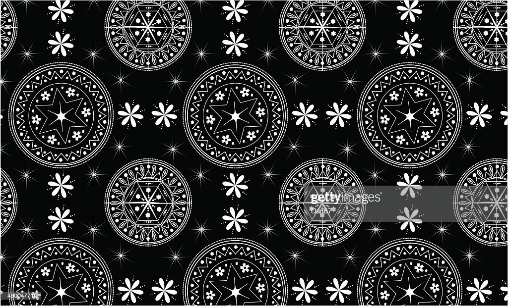 Seamles black and white pattern