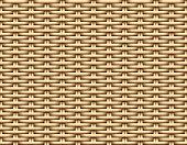 Seamless 3D Brown Rattan pattern, vector art