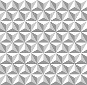 Seamless 3d Triangle  Pattern. Abstract White Geometric Background.
