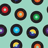 Seamless 45 RPM records Pattern