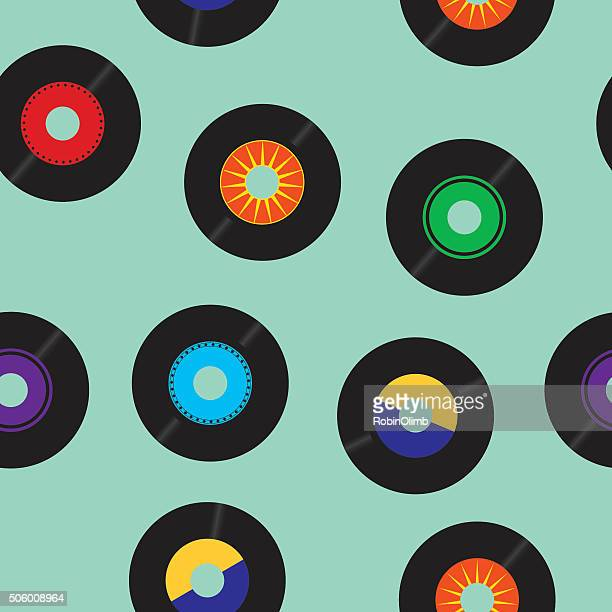 Seamless 45 RPM records Pattern