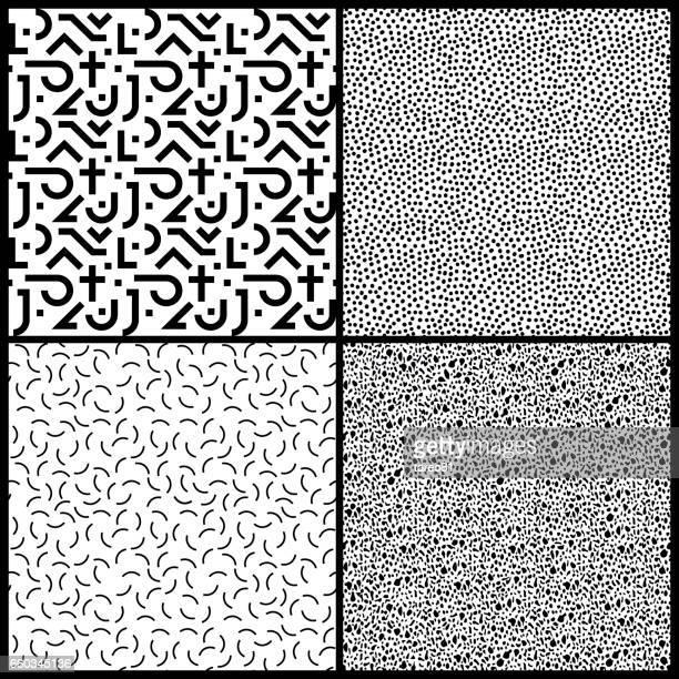 4 Seamless 80s Pattern Tiles